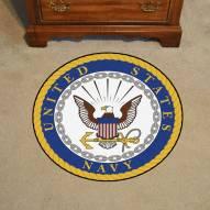 "U.S. Navy 44"" Round Area Rug"