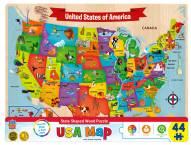 USA Map 44 Piece Wood Puzzle