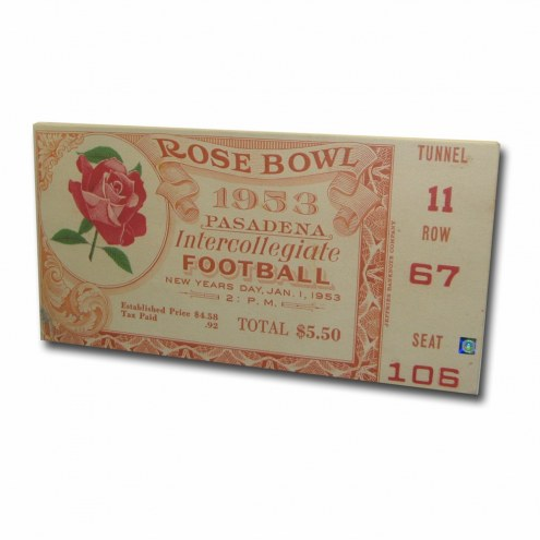 USC Trojans 1953 Rose Bowl Mega Ticket Canvas Art