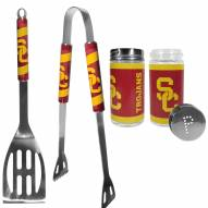 USC Trojans 2 Piece BBQ Set with Tailgate Salt & Pepper Shakers