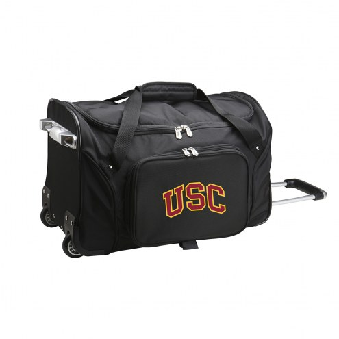 """USC Trojans 22"""" Rolling Duffle Bag"""