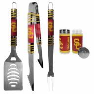 USC Trojans 3 Piece Tailgater BBQ Set and Salt and Pepper Shaker Set