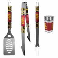 USC Trojans 3 Piece Tailgater BBQ Set and Season Shaker