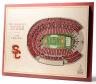 USC Trojans 5-Layer StadiumViews 3D Wall Art