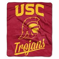 USC Trojans Alumni Raschel Throw Blanket