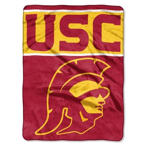 USC Trojans Basic Plush Raschel Blanket