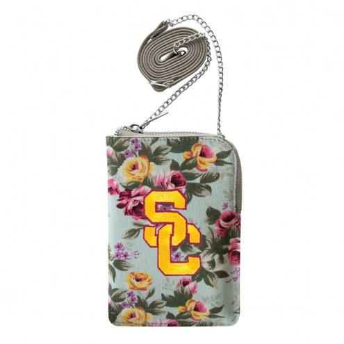 USC Trojans Canvas Floral Smart Purse