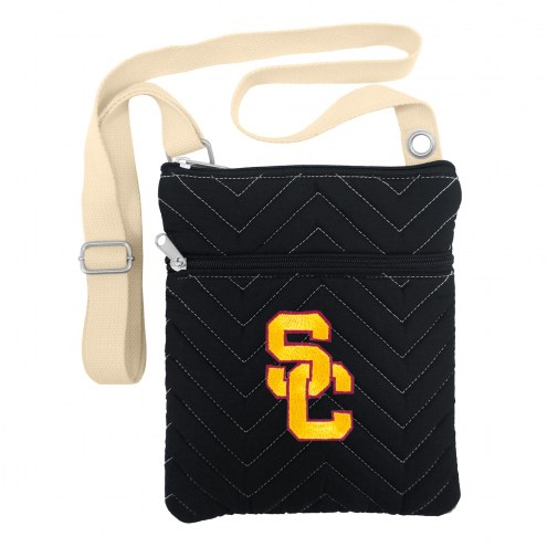 USC Trojans Chevron Stitch Crossbody Bag