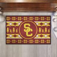 USC Trojans Christmas Sweater Starter Rug