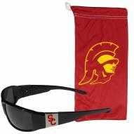 USC Trojans Chrome Wrap Sunglasses & Bag