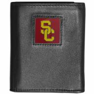 USC Trojans Deluxe Leather Tri-fold Wallet in Gift Box