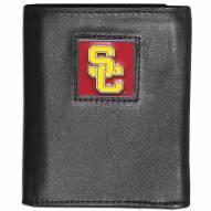 USC Trojans Deluxe Leather Tri-fold Wallet