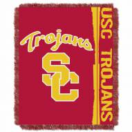 USC Trojans Double Play Woven Throw Blanket