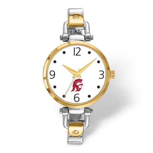 USC Trojans Elegant Ladies Two-Tone Watch