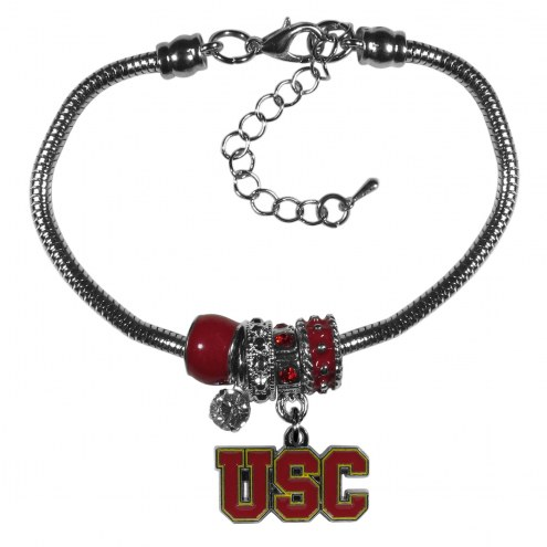 USC Trojans Euro Bead Bracelet