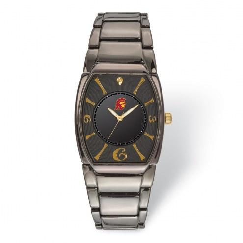 USC Trojans Executive Black Plated Watch