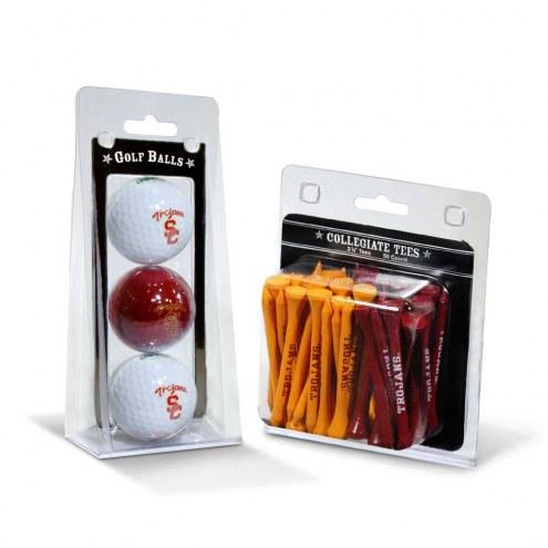 USC Trojans Golf Ball & Tee Pack