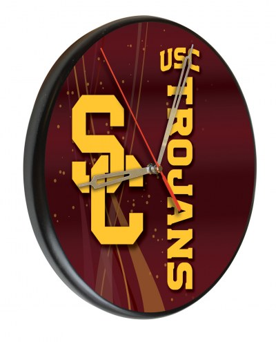 USC Trojans Digitally Printed Wood Clock
