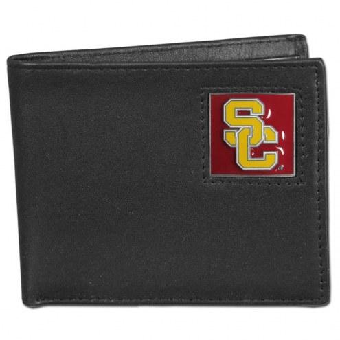 USC Trojans Leather Bi-fold Wallet