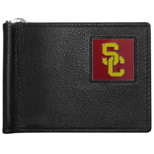 USC Trojans Leather Bill Clip Wallet