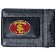 USC Trojans Leather Cash & Cardholder