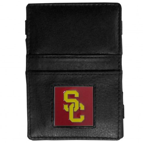 USC Trojans Leather Jacob's Ladder Wallet