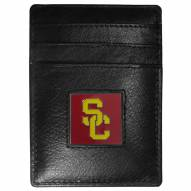 USC Trojans Leather Money Clip/Cardholder in Gift Box