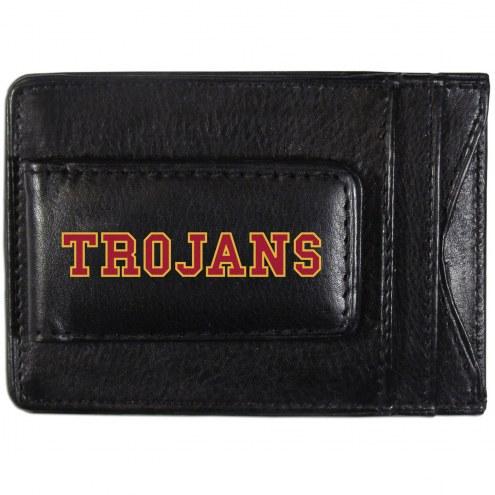 USC Trojans Logo Leather Cash and Cardholder