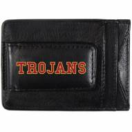 USC Trojans Logo Leather Cash and Cardholder