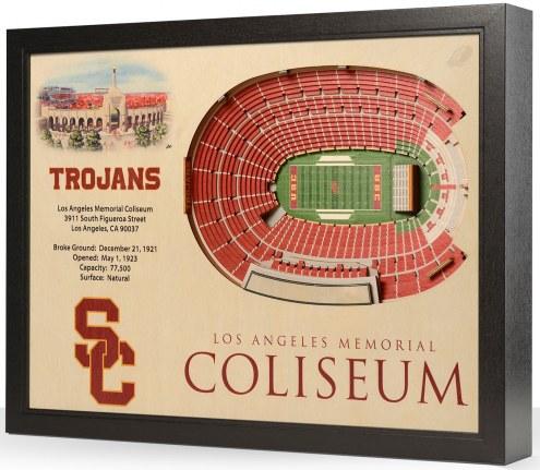 USC Trojans 25-Layer StadiumViews 3D Wall Art