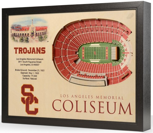 USC Trojans 25-Layer StadiumViews 3D Wall Art