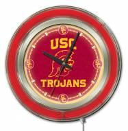 USC Trojans Neon Clock
