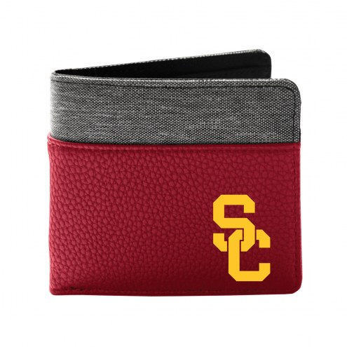 USC Trojans Pebble Bi-Fold Wallet