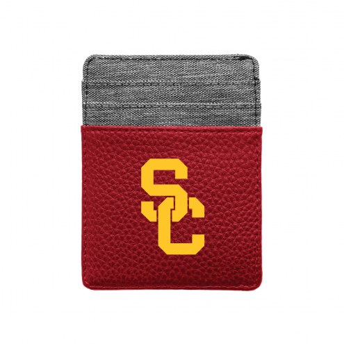 USC Trojans Pebble Front Pocket Wallet