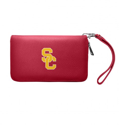 USC Trojans Pebble Organizer Wallet