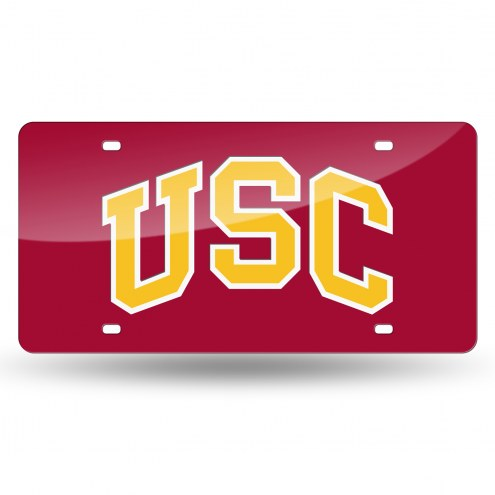 USC Trojans Laser Cut License Plate