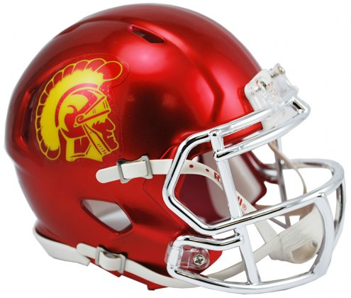 USC Trojans Riddell Speed Mini Collectible Chrome Football Helmet