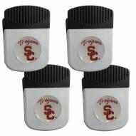 USC Trojans 4 Pack Chip Clip Magnet with Bottle Opener