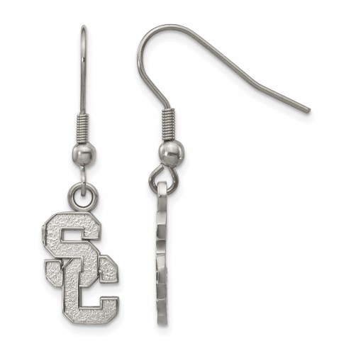 USC Trojans Stainless Steel Dangle Earrings