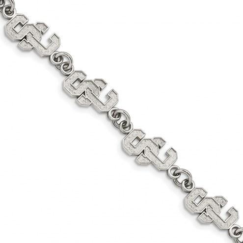USC Trojans Stainless Steel Logo Bracelet