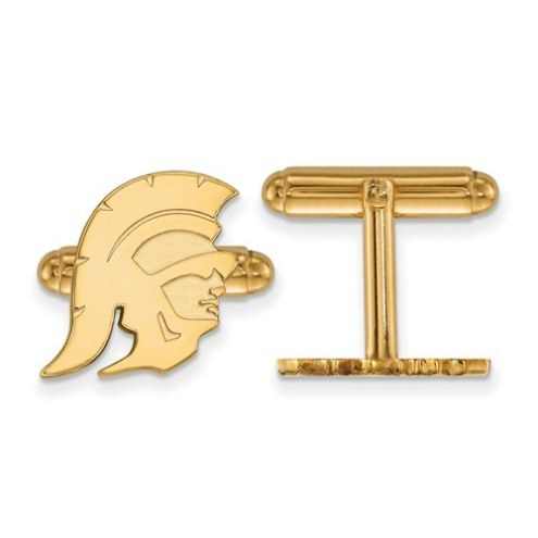 USC Trojans Sterling Silver Gold Plated Cuff Links