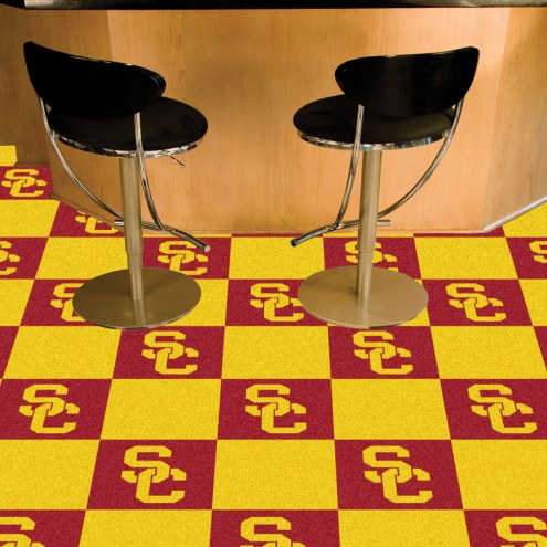 USC Trojans Team Carpet Tiles