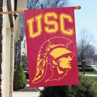USC Trojans - Trojan Head NCAA Applique 2-Sided Banner Flag