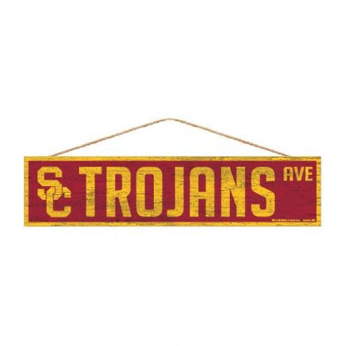 USC Trojans Wood Avenue Sign