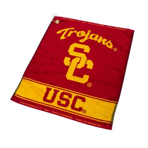 USC Trojans Woven Golf Towel