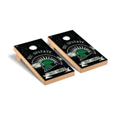 USC Upstate Spartans Banner Vintage Cornhole Game Set