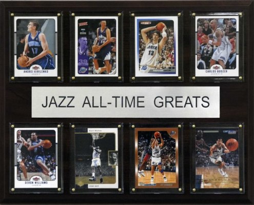 """Utah Jazz 12"""" x 15"""" All-Time Greats Plaque"""