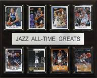 "Utah Jazz 12"" x 15"" All-Time Greats Plaque"