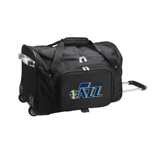 """Utah Jazz 22"""" Rolling Duffle Bag"""