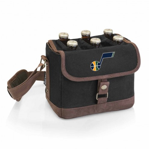 Utah Jazz Beer Caddy Cooler Tote with Opener